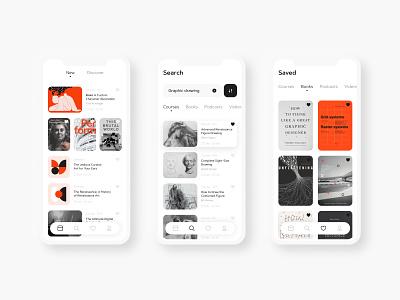 Educational App Design mobile app uiuxdesign app design course app education app mobile design uxdesign uidesign