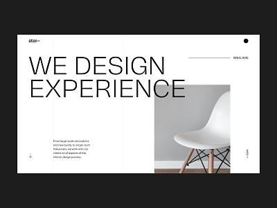 Interior Design Studio Website interior design interior mobile design uxdesign homepage uidesign website design