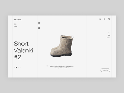 Valenok shop design   Part 2 mobile design shoes store online store shop uxdesign homepage uidesign website design