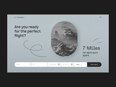 Crossky web app Design brightlab flight metalic grey shades minimalistic minimalist design uidesign web app web design sky tickets booking airline travel travelling app