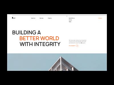 Aist development firm website typography design branding redesign websitedevelopment uxdesign homepage website design uidesign