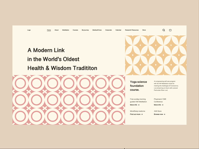 American Meditation Institute Redesign research courses health medical article redesign yoga meditation uxdesign uidesign website webdesign
