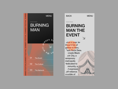 Burning Man Website Redesign ui homepage uidesign mobile design design typography branding redesign uxdesign website design