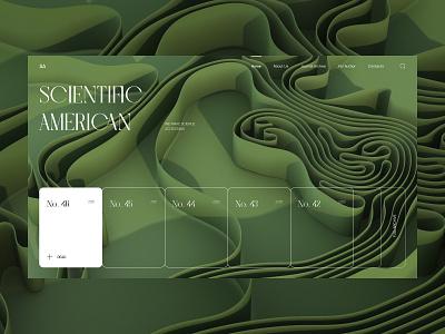 American Scientific Journal Redesign 3d art journal science redesign uxdesign homepage website design uidesign