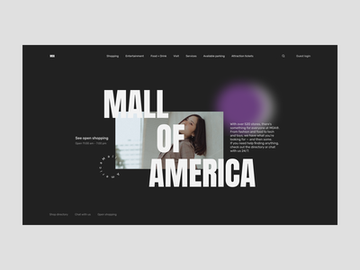 The Mall of America Redesign shopping america mall redesign uxdesign homepage website design uidesign