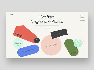 Forest Garden Centre Redesign garden forest shapes redesign uxdesign homepage website design uidesign