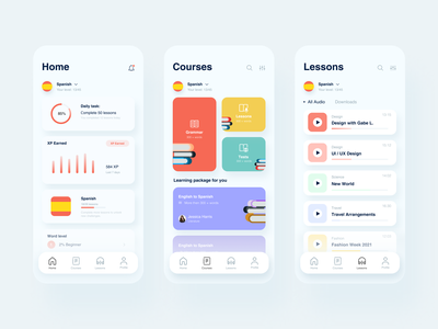 Language Courses App language app gamification language learning study grammar education courses language design mobile design websitedevelopment redesign uxdesign homepage website design uidesign