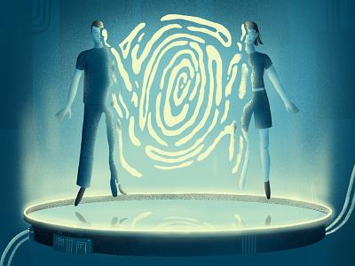 Sci-Fi Body Swap energy futuristic experiment cyber sci-fi fantasy female male mysterious scientific science picture art laboratory lab body abstract hi-tech future illustration