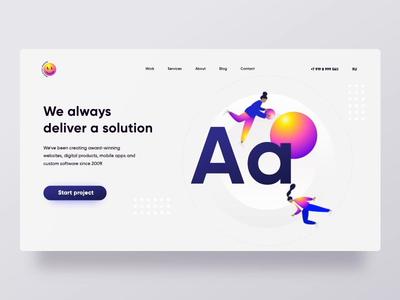 Concept of Digital Agency website design webdevelopment branding and identity uidesigner concept illustration animation digital agency
