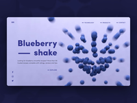 Web site Blueberries 3d illustration