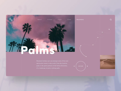 🏖Traveling around the world - Concept website traveling rebounds animations websitedevelopment branding agency homepage concept uidesign