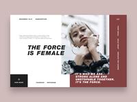 💃 Female Power website for Dribbble :)