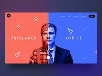 ⛓Concept - freelancer to businessmen