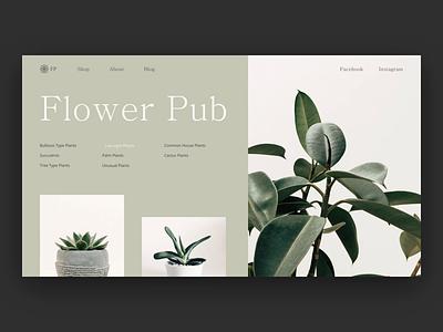 🍀Home Gardens Pub - Home Page simple design websitedevelopment interaction design concept design type homepage flower garden