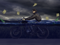 Biking Under Water Manipulation