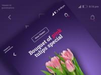 UI design (Tulips Bouquet)