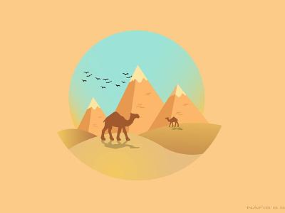 Desert Nafis dream catcher design illustration