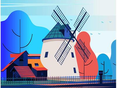 Home_Land ui typography ux branding logo design dream catcher vector illustration