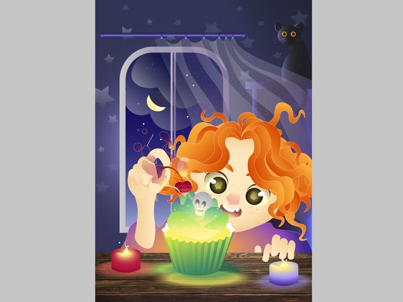 Night Cupcakes design vector illustration art
