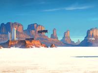 In White Desert (+process)