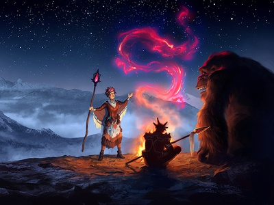 The  Blog magic flame fantasy art blog illustration blog aleksey litvishkov 2d art illustration