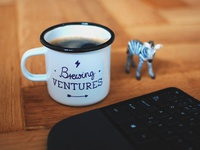 Sleighdogs Mug zebra venture adventure drink tea coffee gift merchandise cup mug