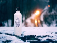 Sleighdogs Water Bottle travel snow tracks train venture merchandise gift drink canteen bottle water adventure