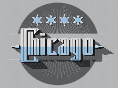Sanborn Map Style Chicago Emblem