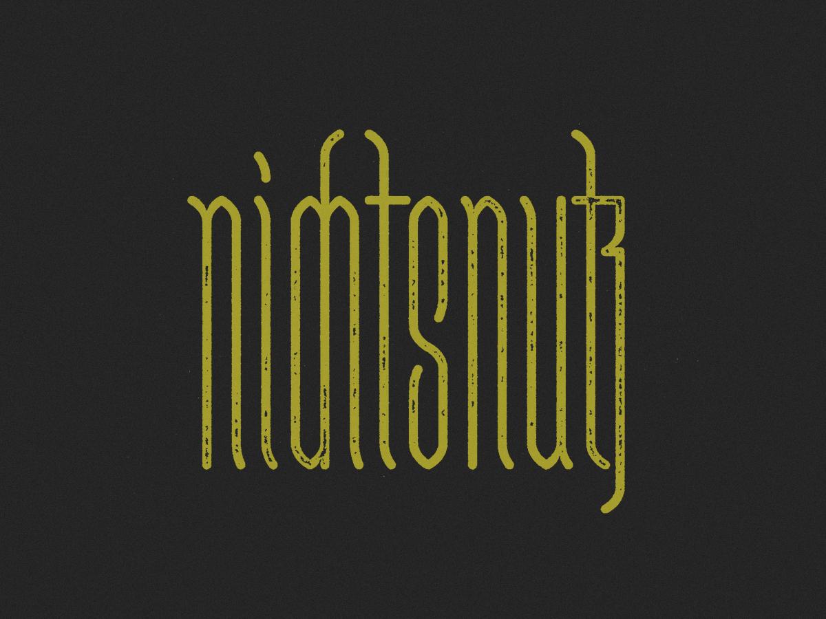 nichtsnutz ligatures blackletter vector typography