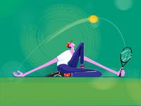 Tennis player fireart fireartstudio illustraion illustration sport tenis character character design
