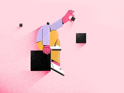 Squares character character design squares square illustraion vector illustration fireartstudio fireart