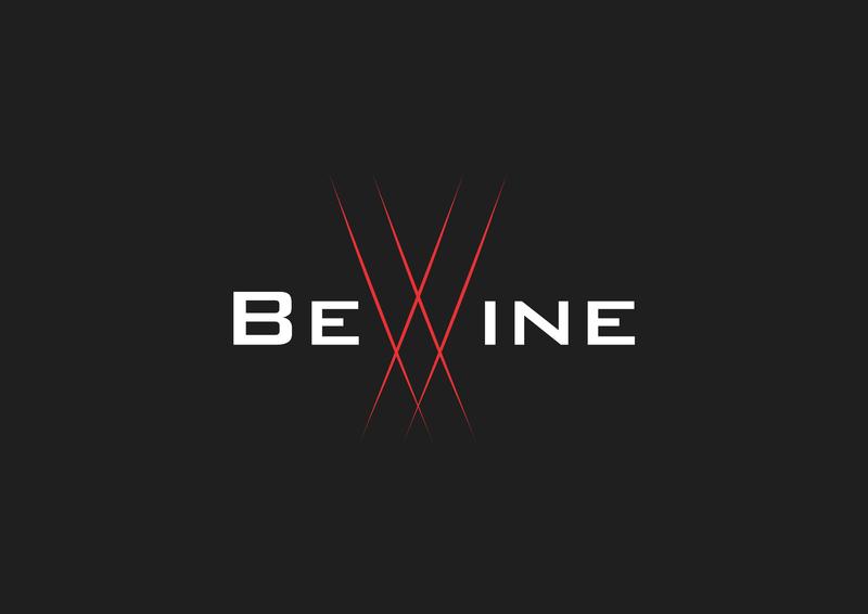 BeWine Logo wine bar wine web flat illustration icon vector logo design branding art