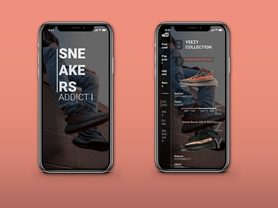 SNEAKERS UX DESIGN - COLLECTION SNEAKERS DESIGN app adobe shop uxd ui aplikasi indonesia mobile ui  ux ux challenge ux design design ux shoes sneaker sneakers