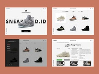 [WEBDESAIN] - SNEAKERS WEBSITE
