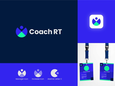 Coach RT Logo Design abstract technologies technology tech app mobile management coachella geometric logomark designer brand simple manager business coaching branding icon design logo