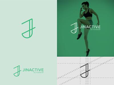 Jinactive | Letter J Minimal Logo Design logo designs minimal lettering letter j business logomark designer simple letter mark branding women sport activewear brand design logo minimalist monogram j letter