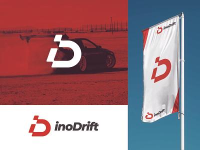 inoDrift Logo Design - Monogram Letter nascar letter d motorsport racecar car letter i monogram event drift racing company icon modern logomark business branding brand simple design logo