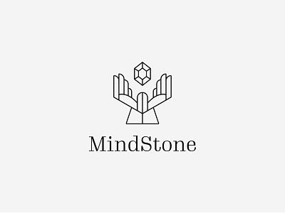 Mind Stone Monoline Logo Design iconic logo symbol stonehenge diamond stones logo design branding identity minimal icon modern business brand monoline logo outline logo logo design logomark hand logo handouts stone logo
