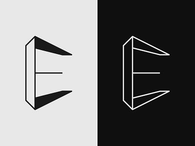 Lettermark E - 3D Perspective Logo Design startup logo grid simple outline logo monogram logo perspective letters identity company icon modern business logomark design branding logo designs minimal logo 3d logo e lettermark