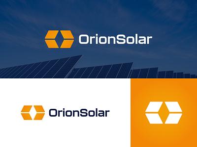 Orion Solar - Logo Design service construction real estate graphic design bold panel solar business company energy brand design logomark simple modern logo branding
