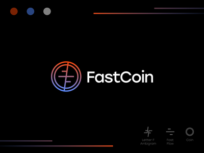 FastCoin Logo Design wallet blockchain bitcoin identity design brand brandmark logomark simple branding modern icon symbol mark logo cryptocurrency currency token coin crypto