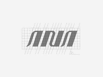 ANA Logotype Grid System business company airplane airways minimalist lettermark grids golden ratio construction logomark identity brand modern simple logo design branding wordmark grid logotype