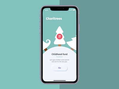 Charitree app ui neumorphism motion mobile app animation aftereffects