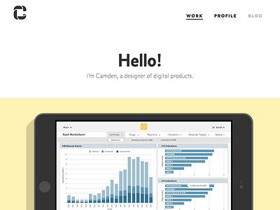 camdenasay.com redesign website redesign ui design