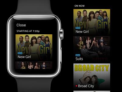 What to Watch xfinity tv ui apple watch