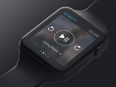 Apple Watch TV Controls ui play watch xfinity tv apple watch