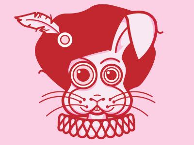Shakespearean Rabbit shakespeare rabbit feather bunny pink red