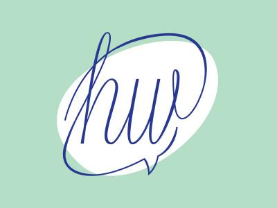 HearWorld Logo audio speech world ear hear blue turquoise logo branding