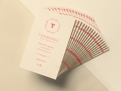 Tangeree Photography Identity branding identity photography business card logo