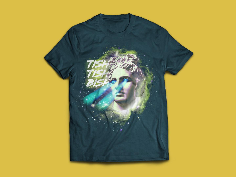 Sciencey Shirtiness space lazer eyes aphrodite pop culture tech science tish tee shirt t shirt